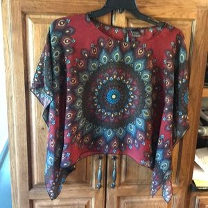 Sheer patterned blouse